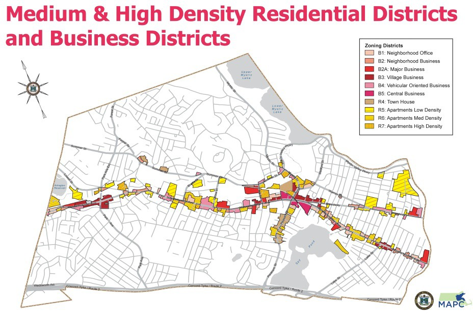 Medium and High Density Residential Districts and Business Districts