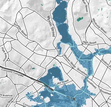 """Surging Seas"" Risk Zone Map Shows Arlington Wetlands Threat"